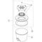 """A&A Manufacturing PDR Main Drain (88 GPM, 10"""" Round) 54-106-W003"""