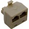 Adapter, BWG RJ45, 2 to 1 Modular Jack, Phone Plug Connector 59-138-1402