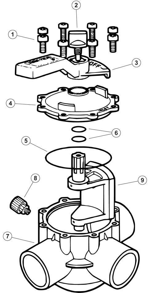 3 way valve exploded diagram