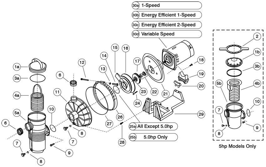 Pentair pacfab challenger high flow pump parts for Pentair challenger pump motor