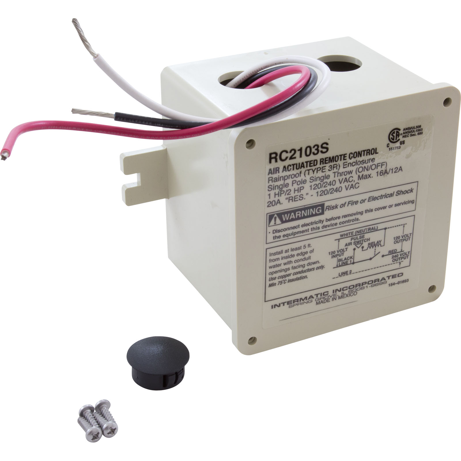 air control box intermatic 115v 230v one circuit on off rh ebay com